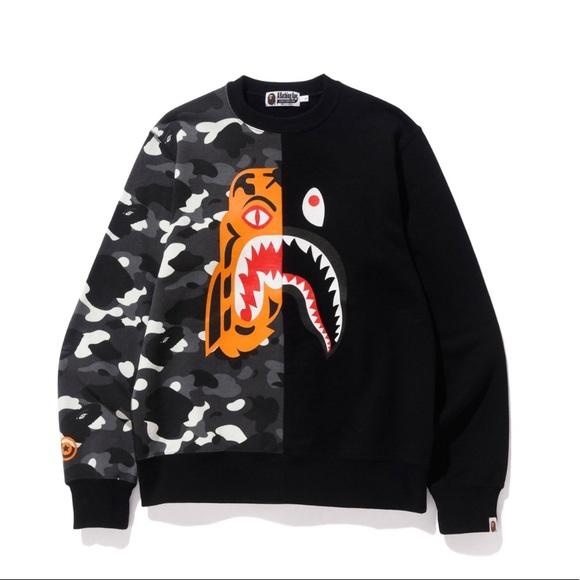 590d3e53f Bape Sweaters | Bathing City Camo Tiger Shark | Poshmark